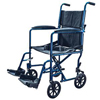 Cardinal Health Transport Chair with Swing Away Foot Rest 19 Width, Aluminum, Blue IND ZCH9201BL
