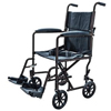 Cardinal Health Transport Chair with Swing Away Foot Rest 19 Width, Aluminum, Black IND ZCH9201BLK