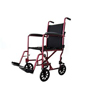 Cardinal Health Transport Chair with Swing Away Foot Rest 19 Width, Aluminum, Burgundy IND ZCH9201BUR