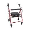 rollers & rollators: Cardinal Health - 4-Wheel Rollator, Burgundy