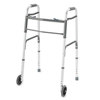 Walkers: Compass Health Brands - ProBasics® Deluxe Two Button Folding Walker with Wheels Installed - Youth, 4EA/CT