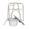 Commodes Commode Parts: Compass Health Brands - ProBasics® Deluxe Folding Commode with Elongated Seat, 4EA/CT