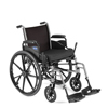Rehabilitation: Invacare - Tracer SX5 Flip-Back Wheelchair Full-Length Arms