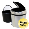 iTouchless 1.5 Gallon Automatic Stainless Steel Touchless Trash Can® TX ITO IT01RCCS