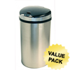 iTouchless 13 Gallon Semi-Round Extra-Wide Opening Touchless Trash Can® HX ITO IT13HXCS