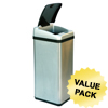 iTouchless 13 Gallon Square Extra-Wide Opening Touchless Trash Can® RX ITO IT13RXCS