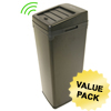 iTouchless 14 Gal. Automatic Black Touchless Trash Can® SX ITO IT14SBCS
