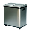 iTouchless 16 Gallon Dual-Compartment Stainless Steel Recycle Bin NX ITO IT16RESEA