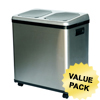 iTouchless 16 Gallon Dual-Compartment Stainless Steel Recycle Bin NX ITO IT16RESCS