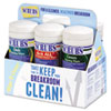 cleaning chemicals, brushes, hand wipers, sponges, squeegees: SCRUBS® Breakroom Six-Pack of Wipes