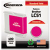 Innovera Innovera Remanufactured LC51M Ink, 400 Page-Yield, Magenta IVR 20051M