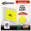 Innovera Innovera Remanufactured LC51Y Ink, 400 Page-Yield, Yellow IVR 20051Y