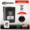 Innovera Innovera Remanufactured C8727AN (27) Ink, 220 Page-Yield, Black IVR 2027A