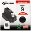 ink cartridges: Innovera Remanufactured C8721WN (02) Ink, 660 Page-Yield, Black