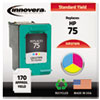 innovera: Innovera Remanufactured CB337WN (75) Ink, 170 Page-Yield, Tri-Color