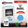 Innovera Innovera Remanufactured C4907AN (940XL) Ink, 1400 Page-Yield, Cyan IVR 4907ANC