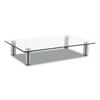 platforms stands and shelves: Innovera Adjustable Tempered Glass Monitor Riser