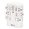 surge protectors: Innovera® Six-Outlet Wall Mount Surge Protector