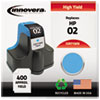 Innovera Innovera Remanufactured C8771WN (02) Ink, 400 Page-Yield, Cyan IVR 71WN