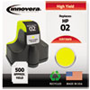 Innovera Innovera Remanufactured C8773WN (02) Ink, 500 Page-Yield, Yellow IVR 73WN
