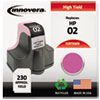 Innovera Innovera Remanufactured C8775WN (02) Ink, 240 Page-Yield, Light Magenta IVR 75WN