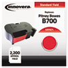 Innovera Innovera 7671 Compatible, Remanufactured, 767-1 Postage Meter,  2200 Page-Yield, Red IVR 7671