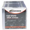 Innovera Innovera® CD/DVD Polystyrene Thin Line Storage Case IVR 85800