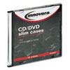 Innovera Innovera® CD/DVD Polystyrene Thin Line Storage Case IVR85826