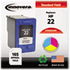 Innovera Innovera Remanufactured C9352AN (22) Ink, 165 Page-Yield, Tri-Color IVR 9352AN