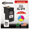 Innovera Innovera Remanufactured 2976B001 (CL-211) Ink, 244 Page-Yield, Tri-Color IVR CL211