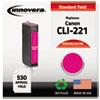 innovera: Innovera Remanufactured 2948B001 (CLI221) Ink, 530 Yield, Magenta