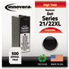 Innovera Innovera Remanufactured 330-5885 (21XL/22XL) High-Yld Ink, 500 Page-Yld, Blk IVR D22BXL