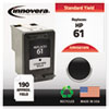 ink cartridges: Innovera Remanufactured CH561WN (61) Ink, 200 Page-Yield, Black
