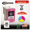 ink cartridges: Innovera Remanufactured CH562WN (61) Ink, 165 Page-Yield, Tri-Color