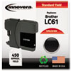 ink cartridges: Innovera Remanufactured LC61BK Ink, 450  Page-Yield, Black