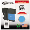 ink cartridges: Innovera Remanufactured LC61C Ink, 325 Page-Yield, Cyan