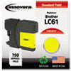 ink cartridges: Innovera Remanufactured LC61Y Ink, 325 Page-Yield, Yellow