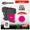 ink cartridges: Innovera Remanufactured LC65M  Ink, 750 Page-Yield, Magenta