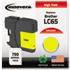 ink cartridges: Innovera Remanufactured LC65Y  Ink, 750 Page-Yield, Yellow