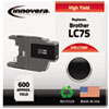 Innovera Innovera Remanufactured High-Yield LC75B Ink, 600 Page-Yield, Black IVR LC75BK