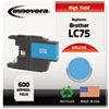 Innovera Innovera Remanufactured High-Yield LC75C Ink, 600 Page-Yield, Cyan IVR LC75C