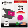 Innovera Innovera Remanufactured High-Yield LC75M Ink, 600 Page-Yield, Magenta IVR LC75M