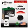 ink cartridges: Innovera Remanufactured 10N0016 (#16) Ink, 335 Yield, Black