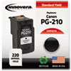 Innovera Innovera Remanufactured 2974B001 (PG-210) Ink, 220 Page-Yield, Black IVR PG210