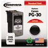 innovera: Innovera Remanufactured 1899B002 (PG-30) Ink, 215 Page-Yield, Black