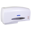 bathroom tissue, bathroom tissue dispensers: IN-SIGHT Coreless White JRT Twin Jumbo Roll Tissue Dispenser