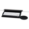 keyboard & mouse drawers & platforms: Kelly Computer Supply Under Desk Keyboard Tray with Oval Mouse Platform, Black