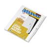 Kleer-Fax Kleer-Fax® 80000 Series Numerical Side Tab Legal Index Divider KLF 82237