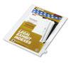 Kleer-Fax Kleer-Fax® 80000 Series Numerical Side Tab Legal Index Divider KLF 82249