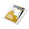 Kleer-Fax Kleer-Fax® 90000 Series Alpha Side Tab Legal Index Divider KLF 91814